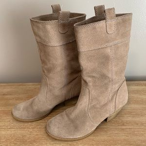 BCBG suede leather boots 6.5M